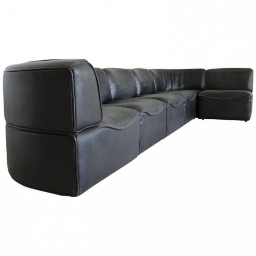 De Sede DS15 seating group in black leather