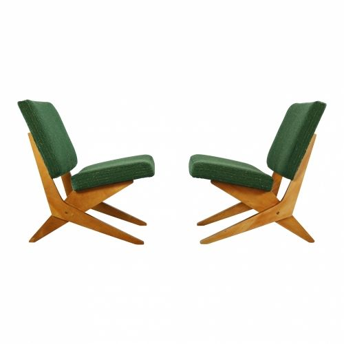 Set of two scissor easy chairs for UMS Pastoe