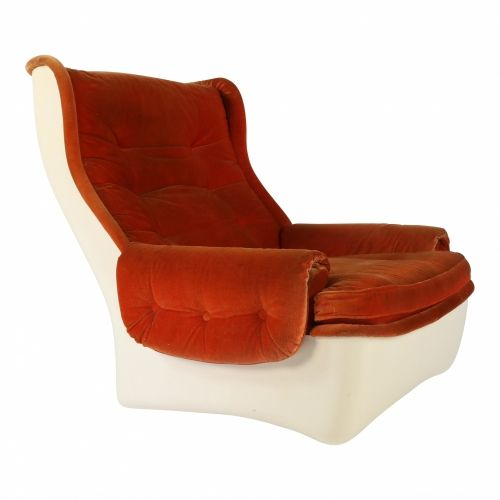 Large fiberglass lounge chair for Airborne