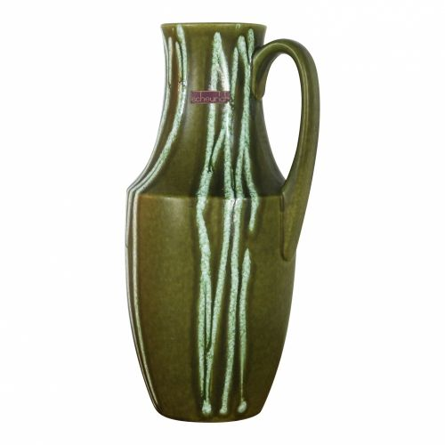 Decorated green vase by Scheurich