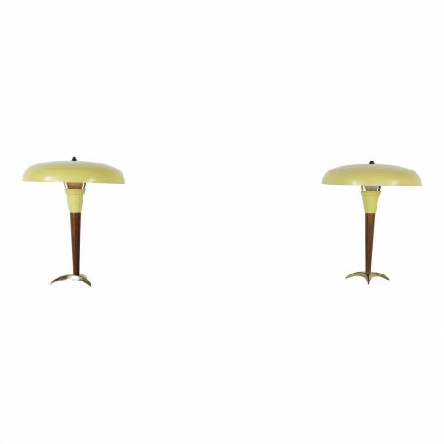 Nice fifties set of tablelamps by Philips (3810)