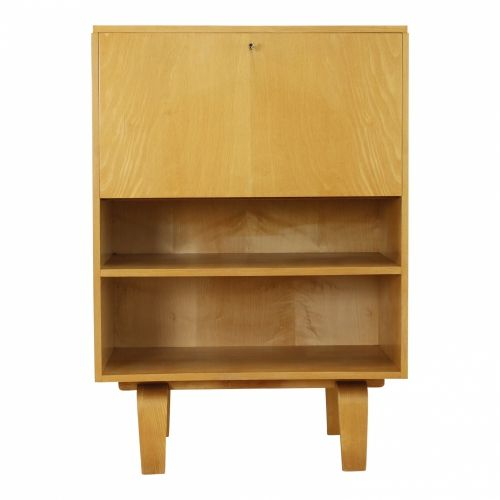Beautiful small cabinet with desk flap by Lutjens