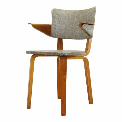 Very scarce arm chair in plywood and laminated wood