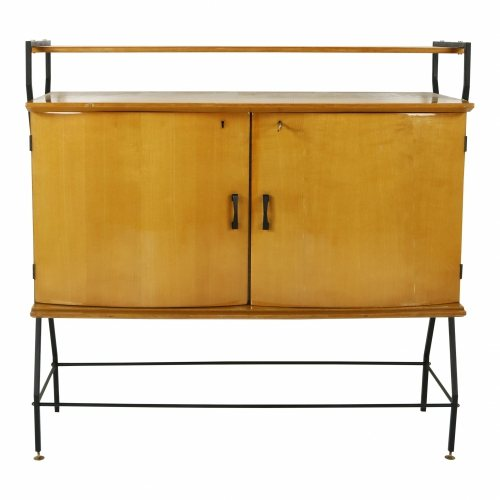 Italian lacquered fifties cabinet cupboard