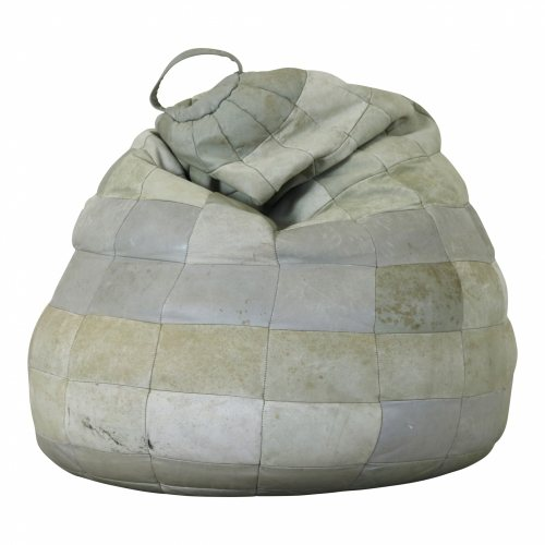De Sede style seventies leather patched bean bag