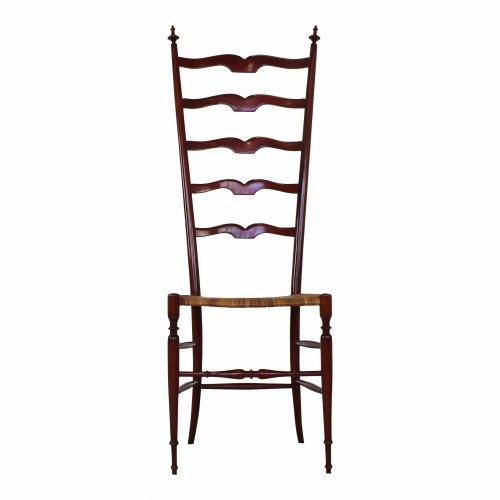 High back Chiavari chair in red pear