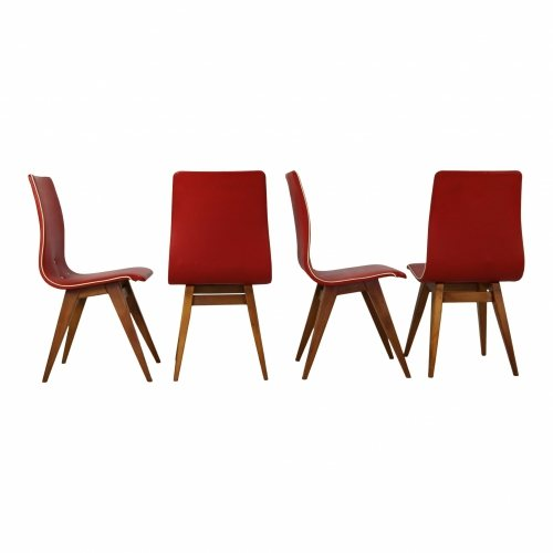 Set of four dinnerchairs by Van Os
