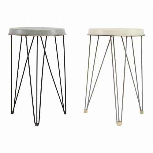Small metal stool by Tjerk Reijenga for Pilastro