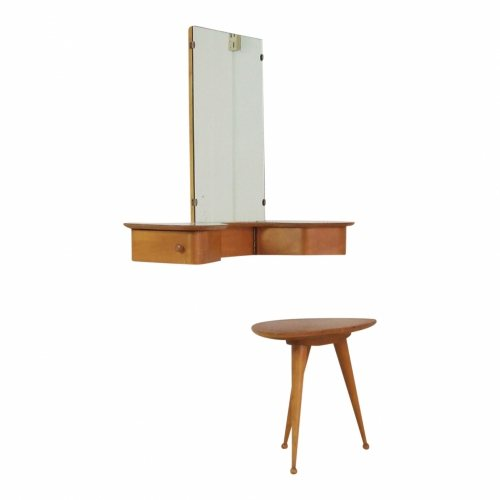 Fifties wall mount make-up vanity table by Cees Braakman