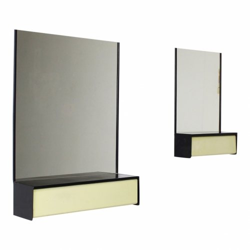 Dutch design wall mirror with storage