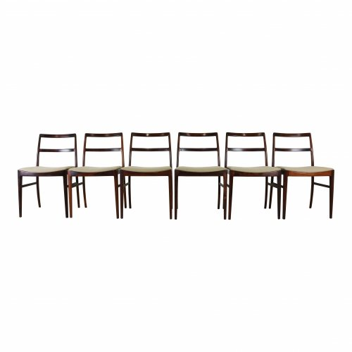 Set of six rosewood dining chairs by Arne Vodder