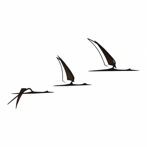 Three -birds in flight- wall decoration