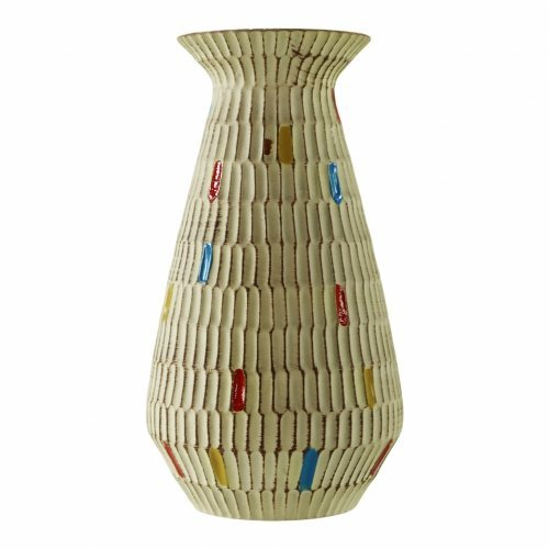 Colorful West-Germany pottery vase