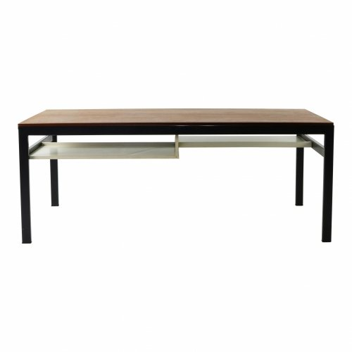 UMS Pastoe coffee table with white formica or teak top