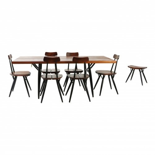 Tapiovaara dining group with extra stool