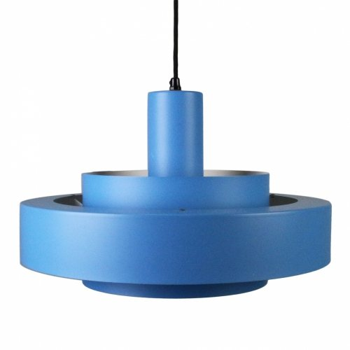 Danish design blue pendant light by Jo Hammerborg
