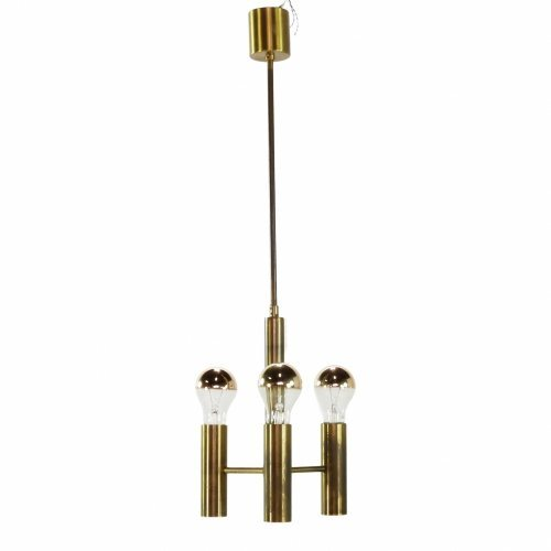Seventies design copper pendant lighting