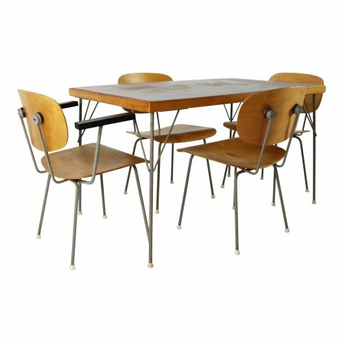 Industrial kitchen dining set by Gispen Holland