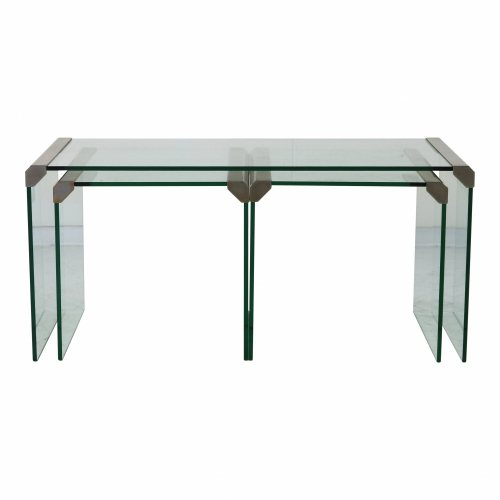 Minimalistic Italian design glass nesting tables