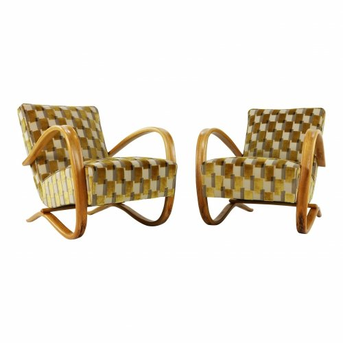 Set of two matching Halabala lounge chairs
