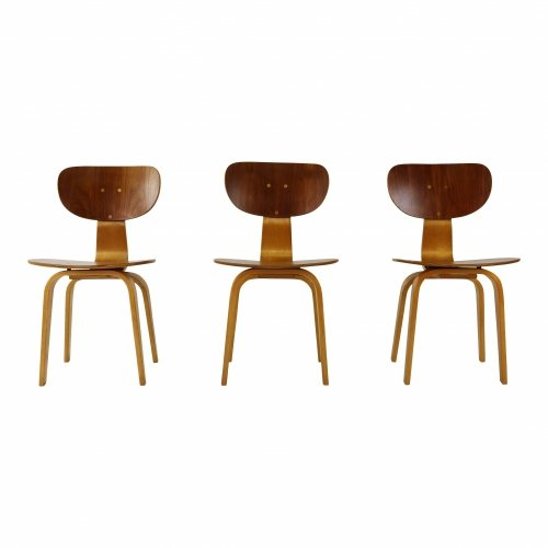 Three dinner chairs by Cees Braakman for UMS Pastoe