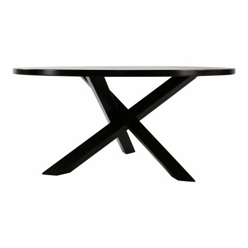 Brutalist wenge crosslegged dinner table designed by Gerard Geytenbeek