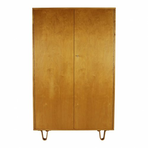 Original Braakman birchwood wardrobe for UMS Pastoe