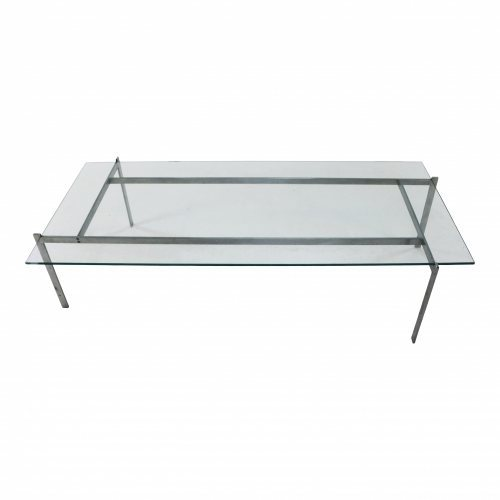 Rectangular coffee table in the style of Poul Kjearholm PK-61
