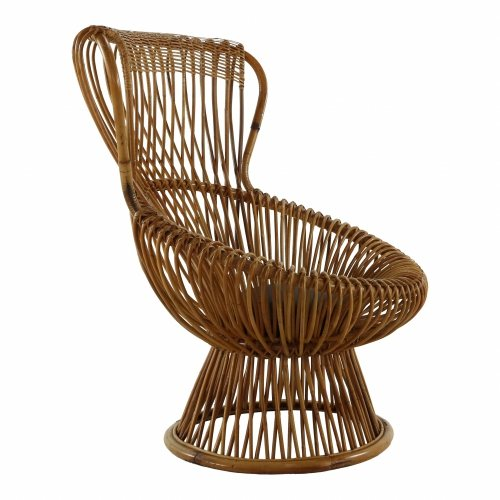 Rattan lounge chair by Franco Albini