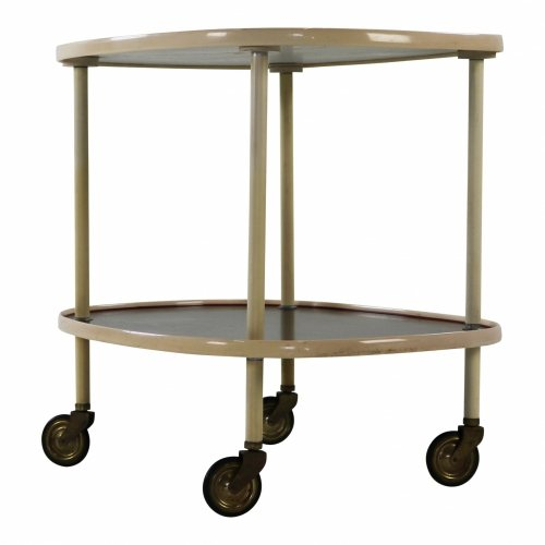 German design serving trolley with grey and black formica