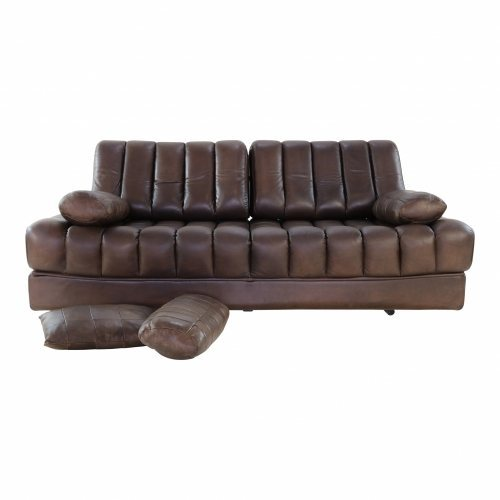 De Sede DS 85 Sit sleep sofa in brown leather