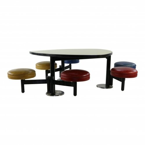 (Only One available) School six seating Modus in leather by Tecno Italy