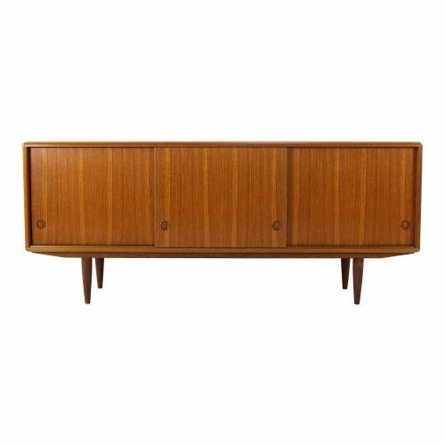 Danish design lowboard credenza in teakwood