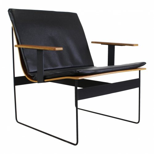 Plywood lounge arm chair by G. Renkel for Rego