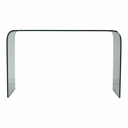 Curved glass desk by Angelo Cortesi for Fiam