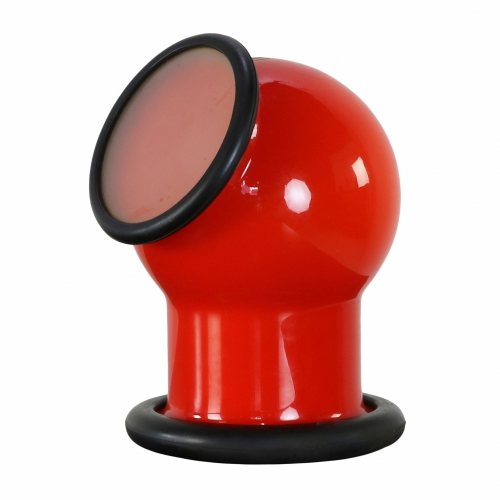 Seventies wall mount / table lamp by Michael Bang for Holmegaard Denmark