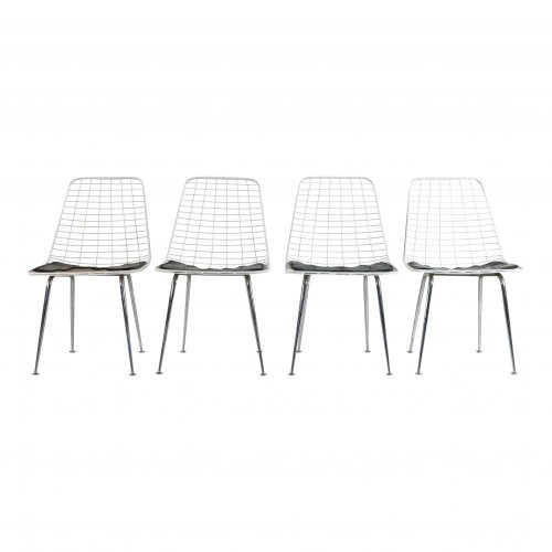 Set of four wire chairs by Cees Braakman and Adriaan Dekker for UMS Pastoe