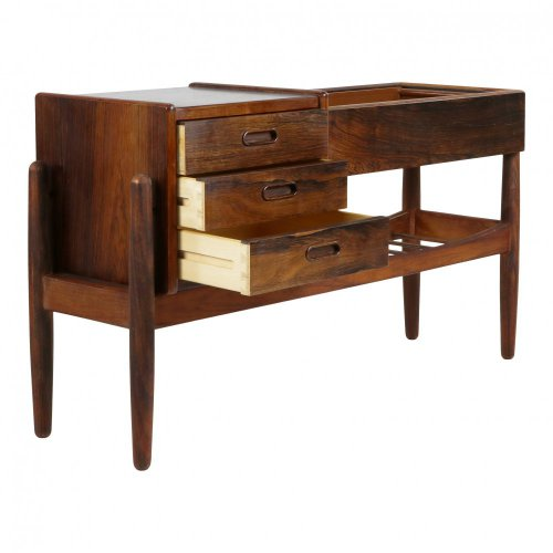 Danish rosewood three drawer cabinet with a plant table by Arne Wahl Iversen