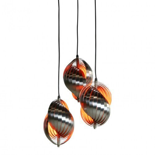 Seventies space age pendant lighting by Henri Mathieu