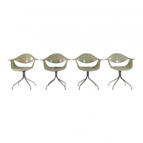 Set of four original DAF chairs designed by Georg Nelson for Herman Miller
