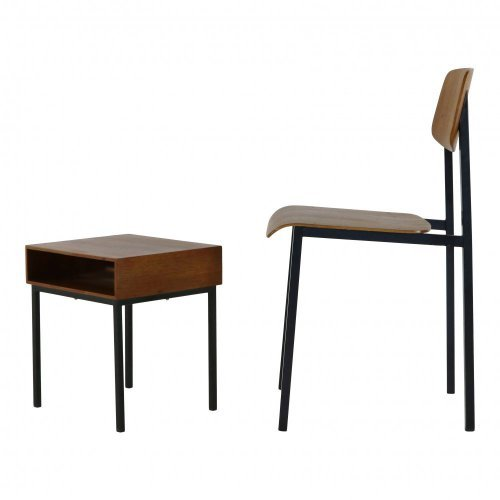 Bedroom chair and nightstand cabinet for Auping Holland