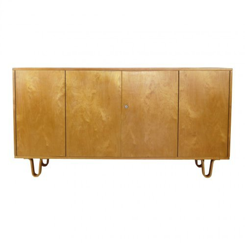 Cees Braakman birchwood low board credenza for UMS Pastoe