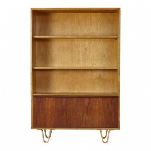 Bookcase with teakdoor flap by Cees Braakman for UMS Pastoe