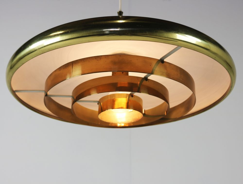 Large German design brass pendant lighting