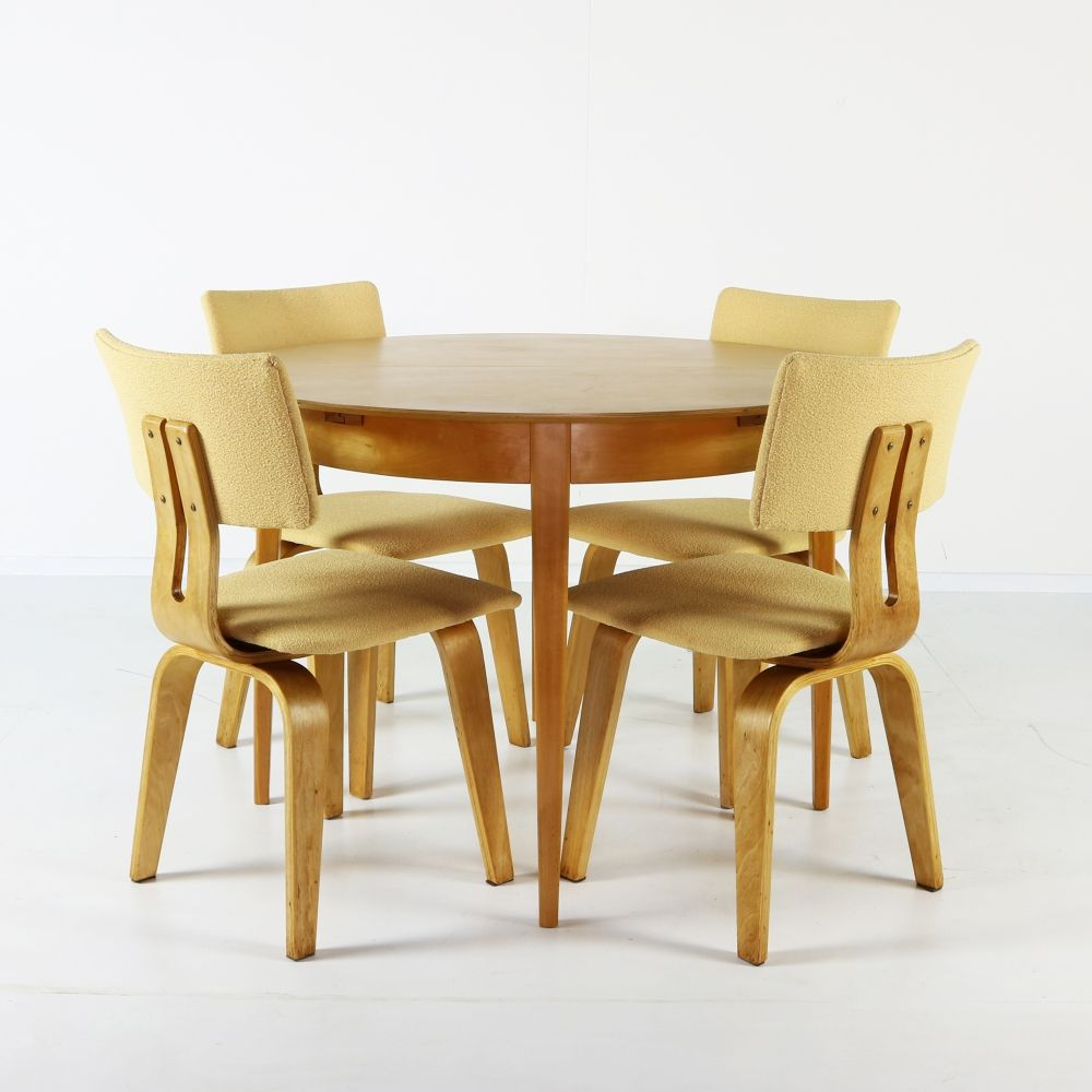 Set of four UMS Pastoe dining chairs SB03 by Cees Braakman
