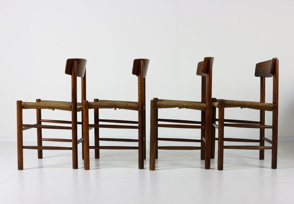 Danish design dinner chairs by Børge Mogensen