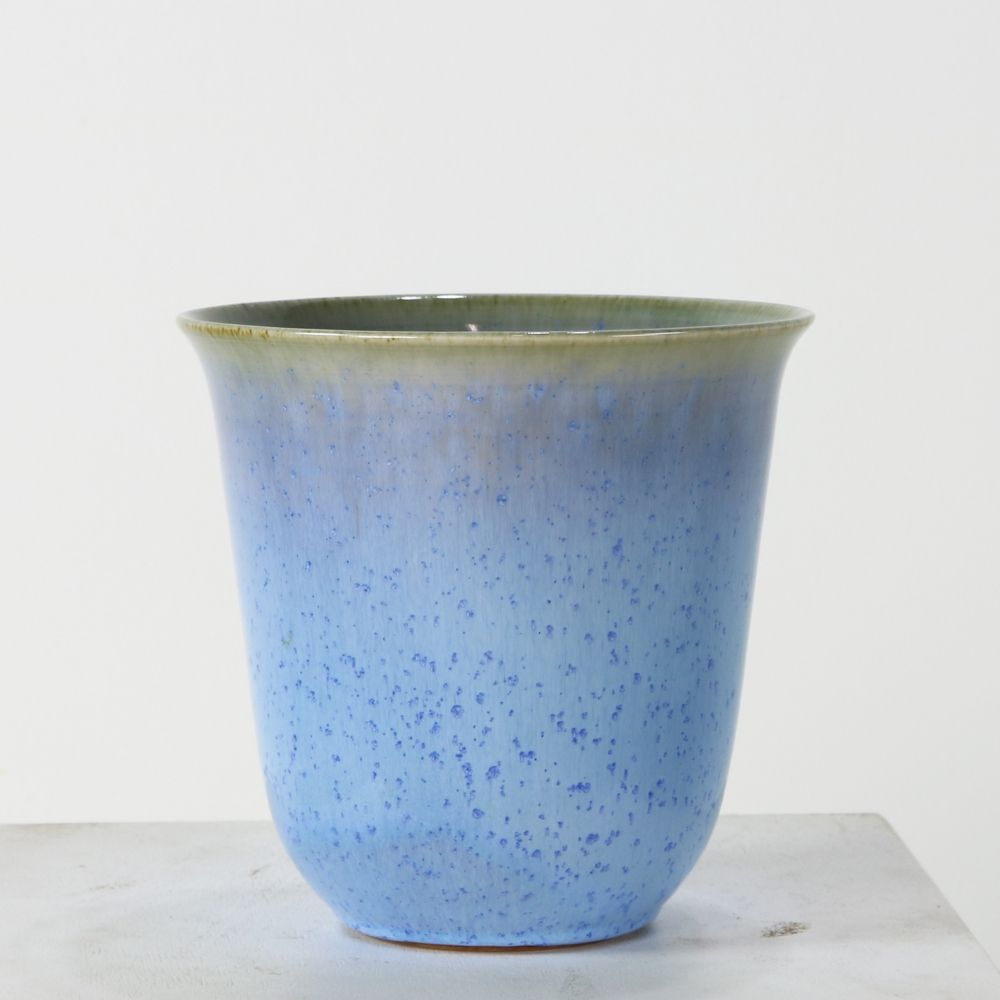 Stunning cobalt blue earhtware vase for Zaalberg