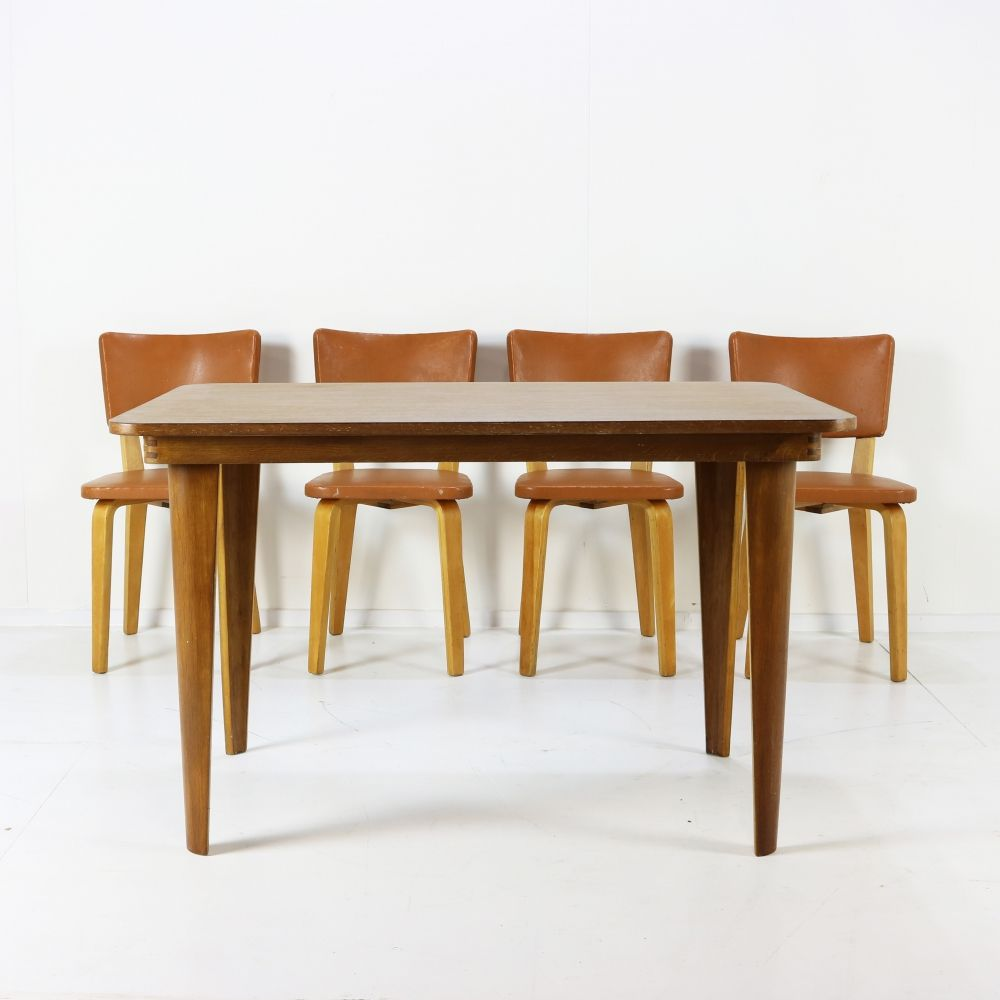 Early bentwood dinner set by Cor Alons
