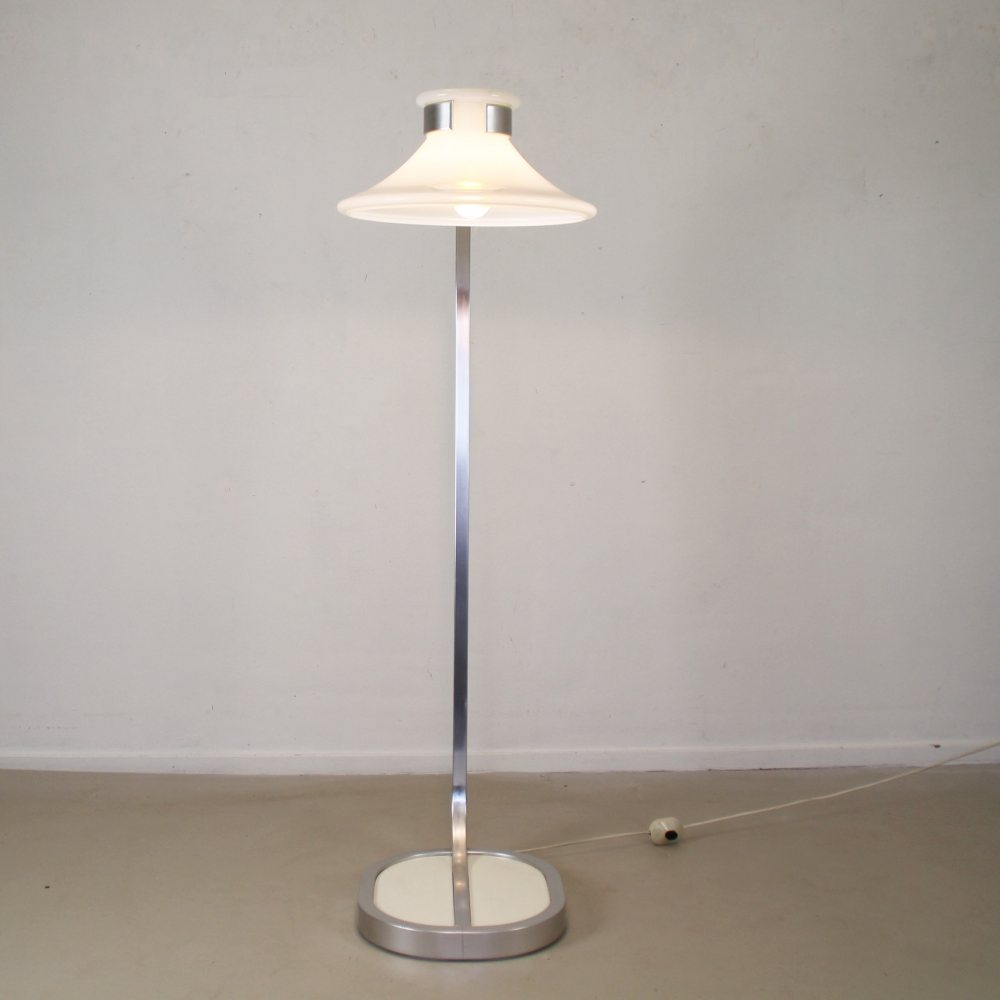 Seventies floorlamp by Jan Ekselius for Orrefors