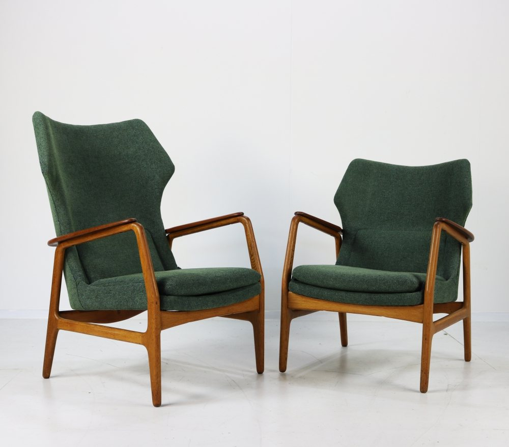 Two Danish design easy chairs for Bovenkamp